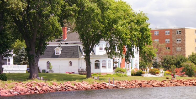 A River with a house on the bank in Charlottetown