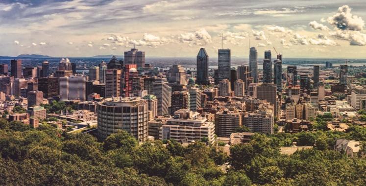 Sky scrapers over Montreal
