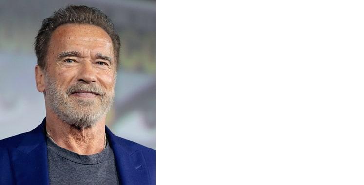 Arnold Schwarzenegger grey male celebrity smiling