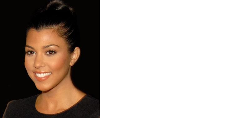 Kourtney Kardashian, Blond woman smiling