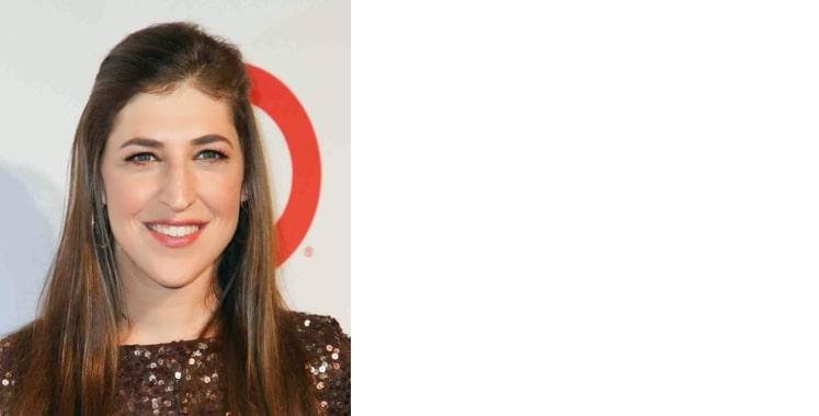 Mayim Bialik, brunette celebrity smiling