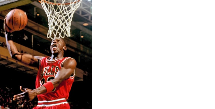 Michael Jordan male celebrity playing basketball
