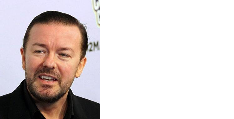 Ricky Gervais Brunette male celebrity