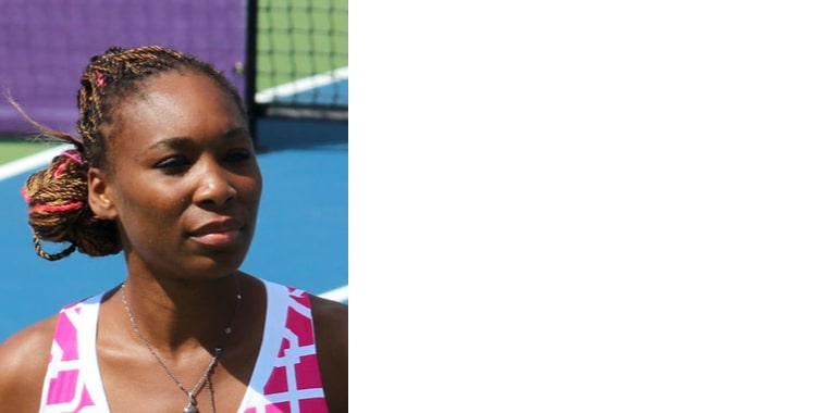 Venus Wiliams, celebrity playing tenis
