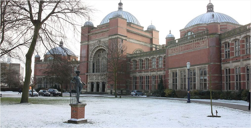 University of Birmingham in the snow